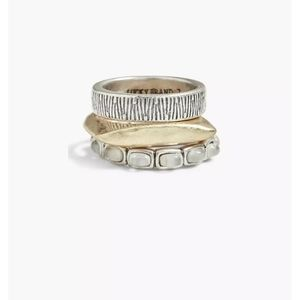 NWT Lucky Brand stack of Rings